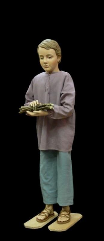 Szopka Bożonarodzeniowa, chłopiec, figura