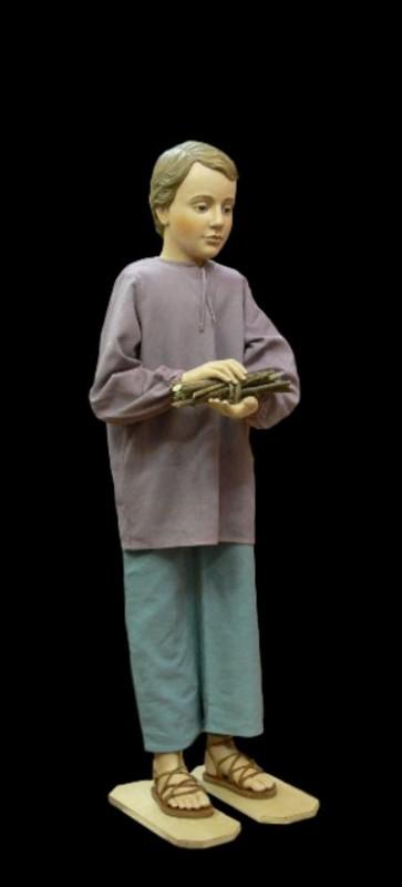 Szopka Bożonarodzeniowa, chłopiec, rzeźba