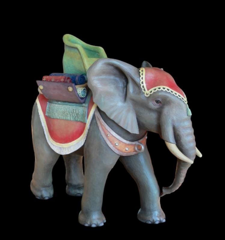 Szopka Bożonarodzeniowa, słoń, rzeźba, figura