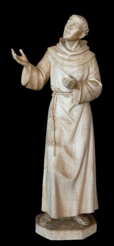 Święty Franciszek rzeźba drewniana