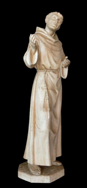 Święty Franciszek figura w drewnie