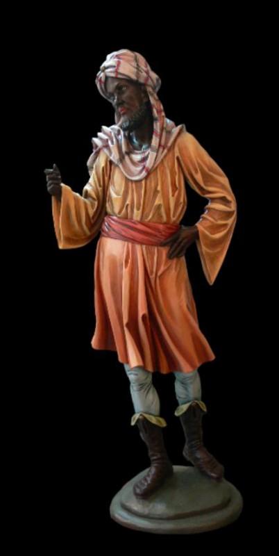 Król Murzyn - figurka szopkowa wykonana w drewnie lipowym z arcydokładną precyzją