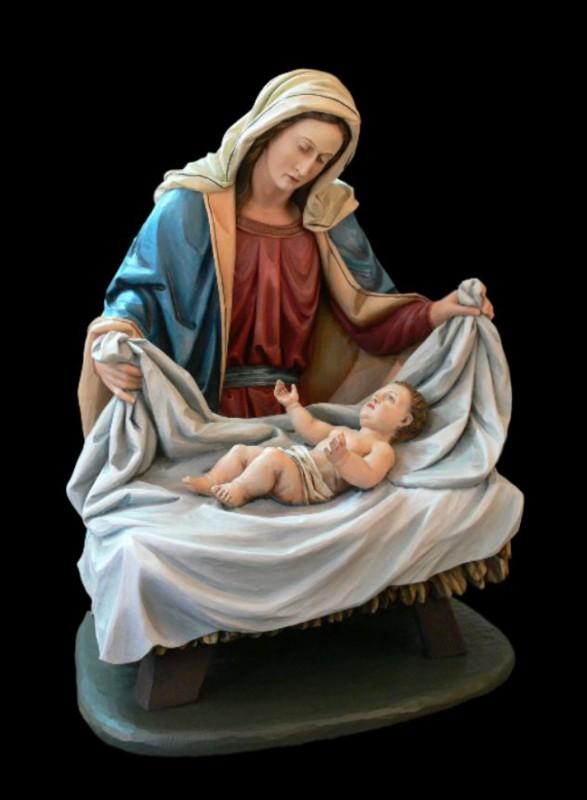Maria z Dzieciątkiem - figura, figurka szopkowa