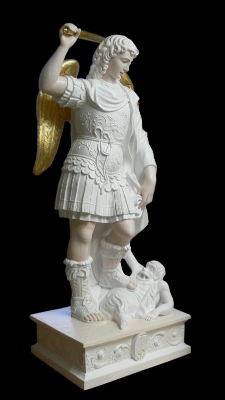 Michał z Gargano - figura wykonana w drewnie lipowym