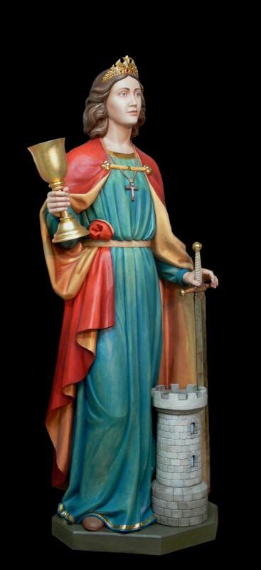 Święta Barbara - rzeźba wykonana w drewnie lipowym