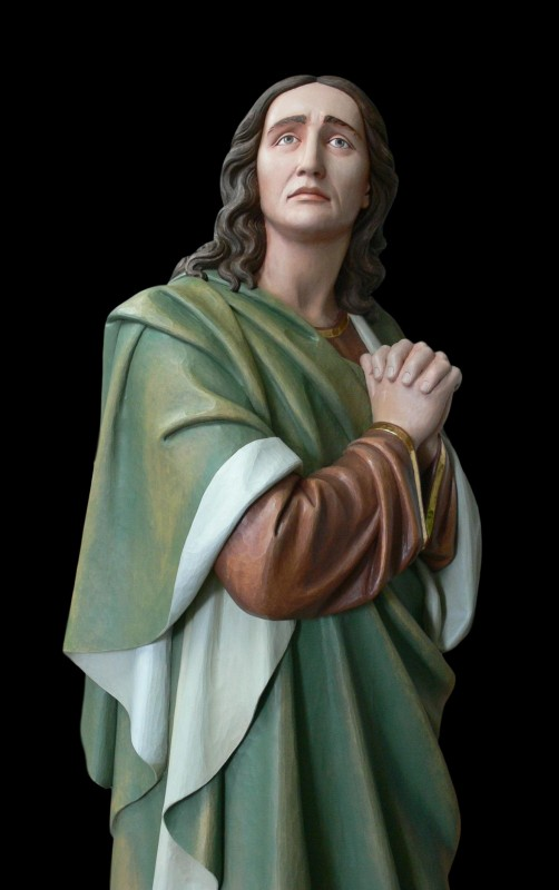 Św. Jan - rzeźba, figura z drewna lipowego, polichromowana