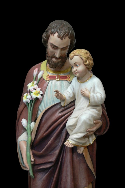 Święty Józef - figurka, rzeźba drewniana