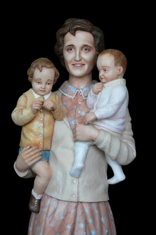 Joanna Beretta Molla, rzeźba w drewnie, figura drewniana