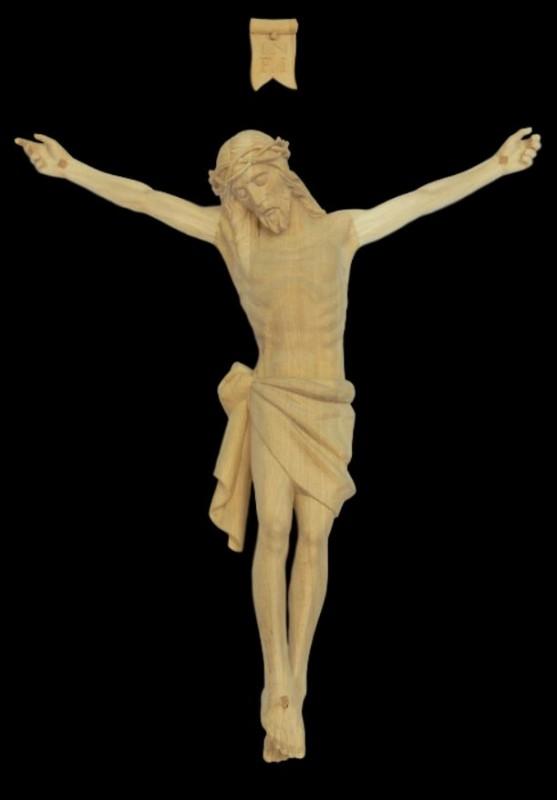 Krucyfiks drewniany rzeźbiony 45 cm