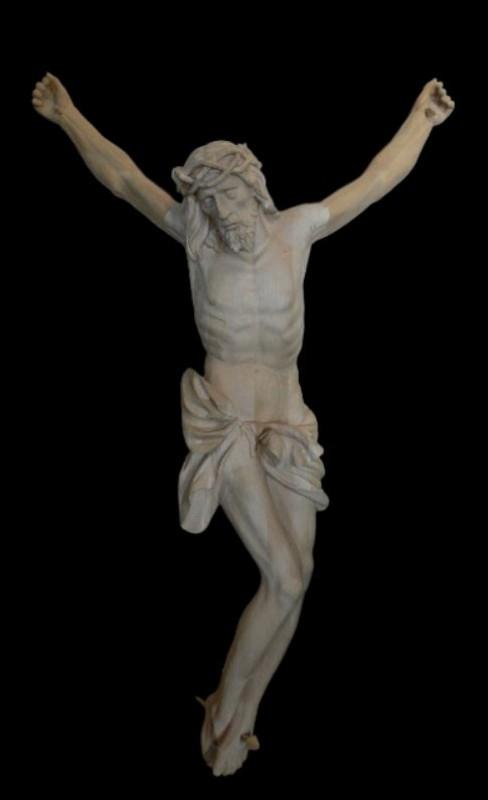 Krucyfiks drewniany rzeźbiony 140 cm