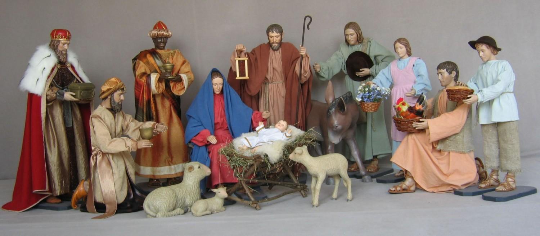 Szopka bożonarodzeniowa - 14 figur