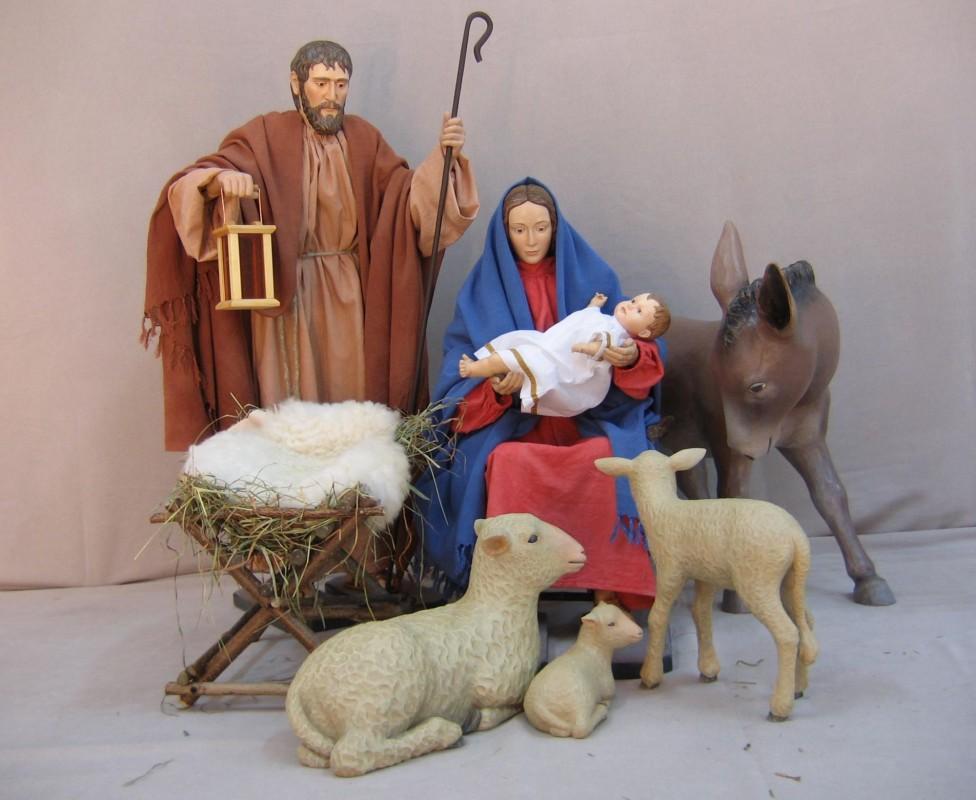 Szopka bożonarodzeniowa - 7 figur