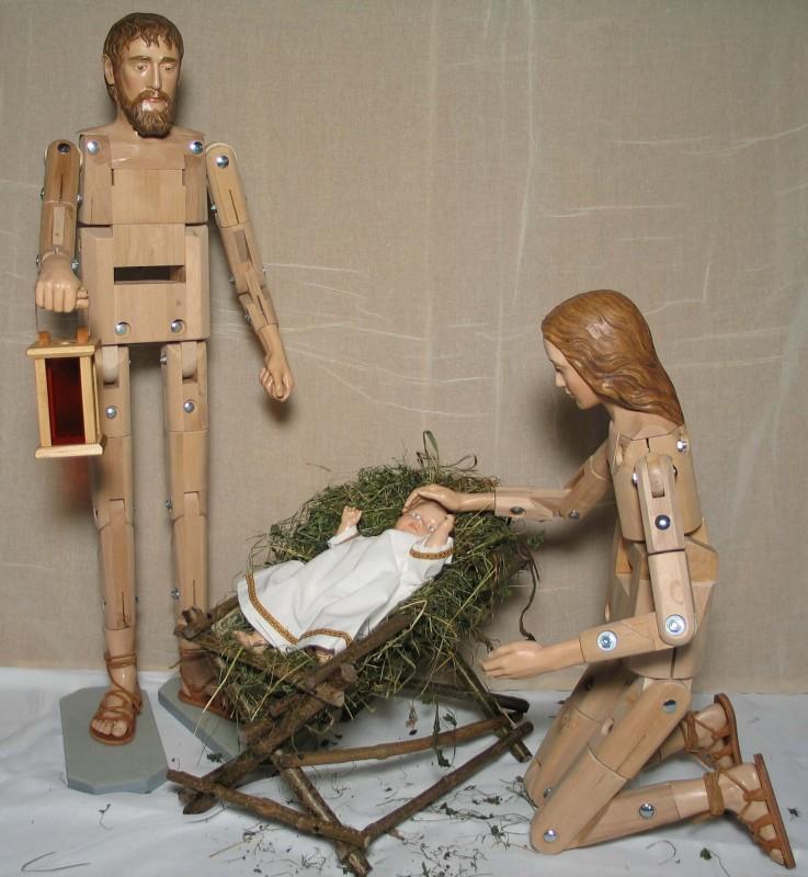Konstrukcja figur do szopki bożonarodzeniowej