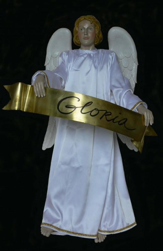 Anioł Gloria - figura do szopki bożonarodzeniowej