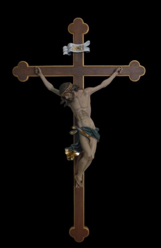 Ręcznie rzeźbiony krucyfiks drewniany 55 cm
