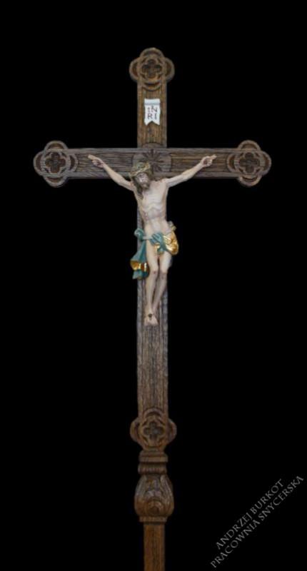 Krzyż procesyjny drewniany 3.17