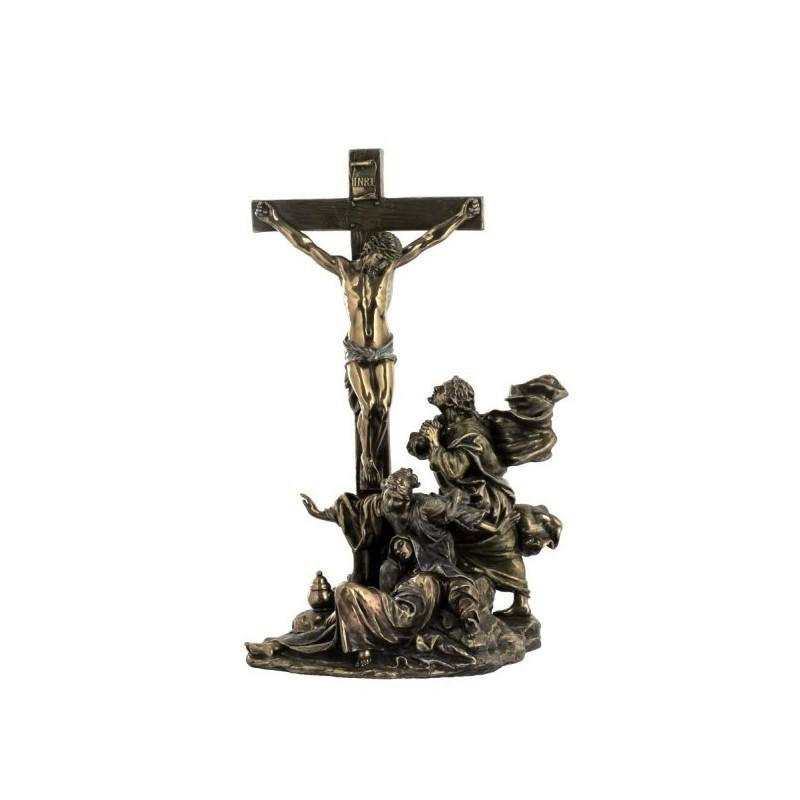Ukrzyżowanie Jezusa, rzeźba z brązu, figura z brązu