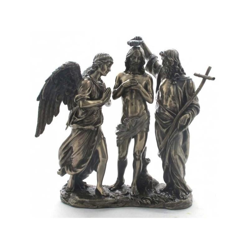 Chrzest Jezusa, rzeźba z brązu, figura z brązu