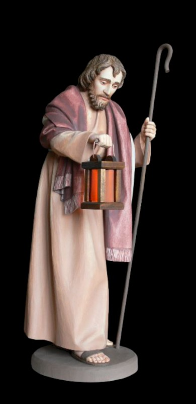 Św. Józef, rzeźba do szopki drewniana