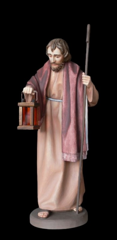 Św. Józef, figura do szopki drewniana