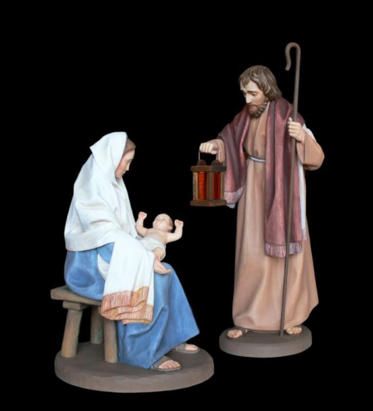 Święta Rodzina, rzeźby drewniane