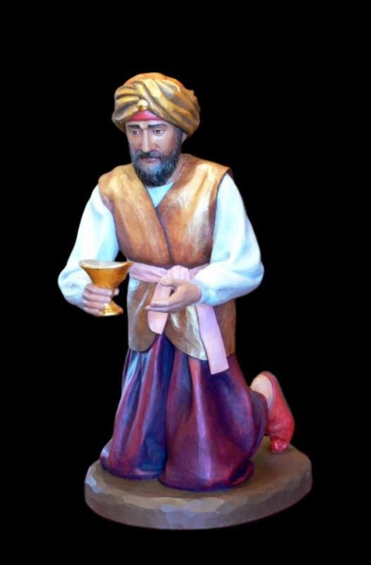 Król Baltazar - drewniana figura do szopki bożonarodzeniowej