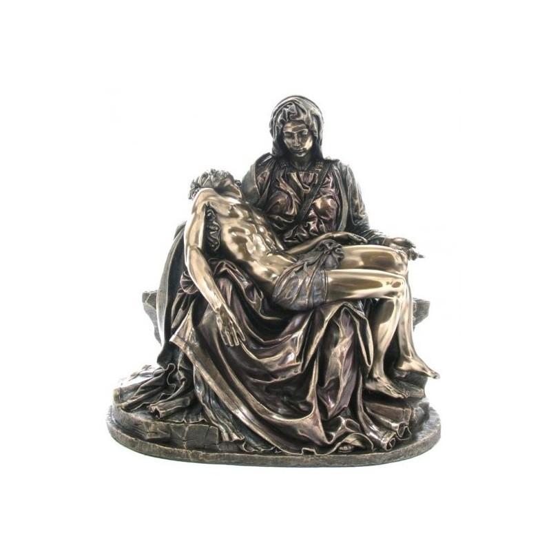 Pieta, zdjęcie z krzyża, figurka z brązu