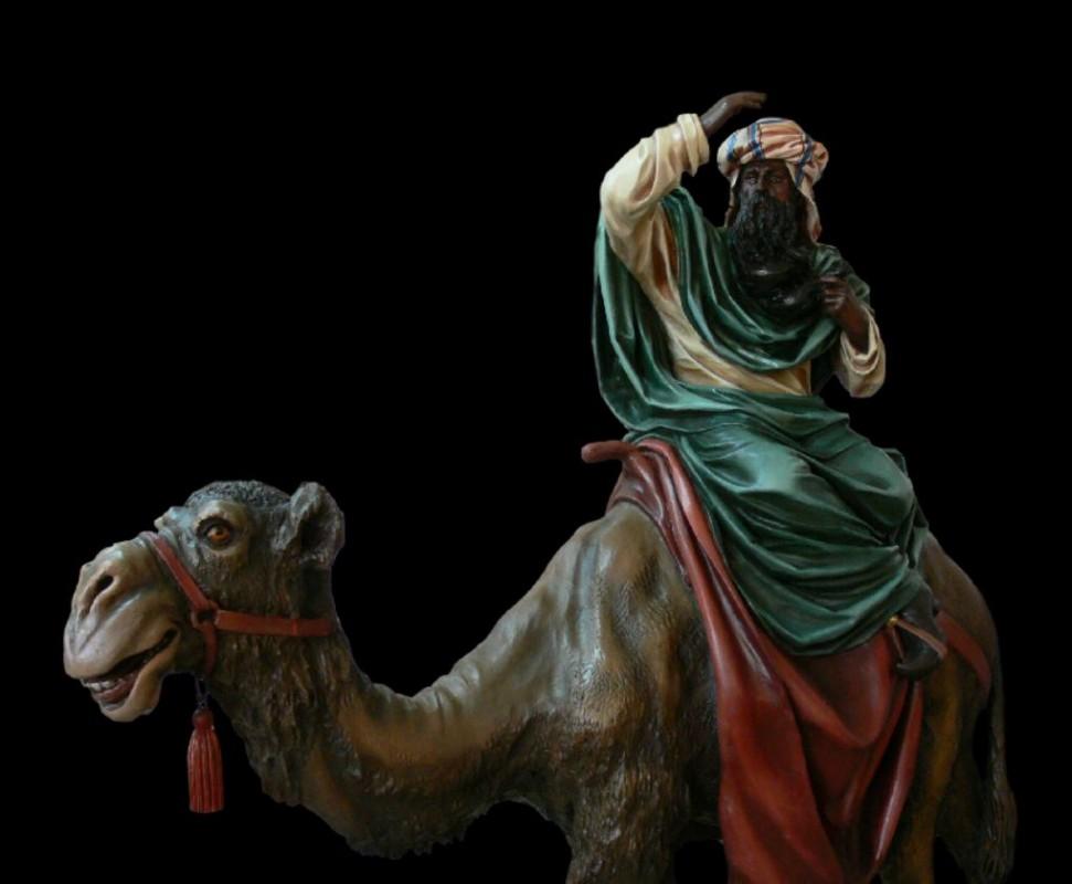 Figura do szopki betlejemskiej, rzeźba w drewnie lipowym