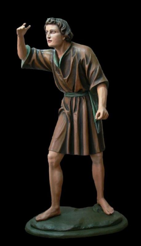 Figura ręczenie wykonana w drewnie lipowym, figura do szopki bożonarodzeniowej