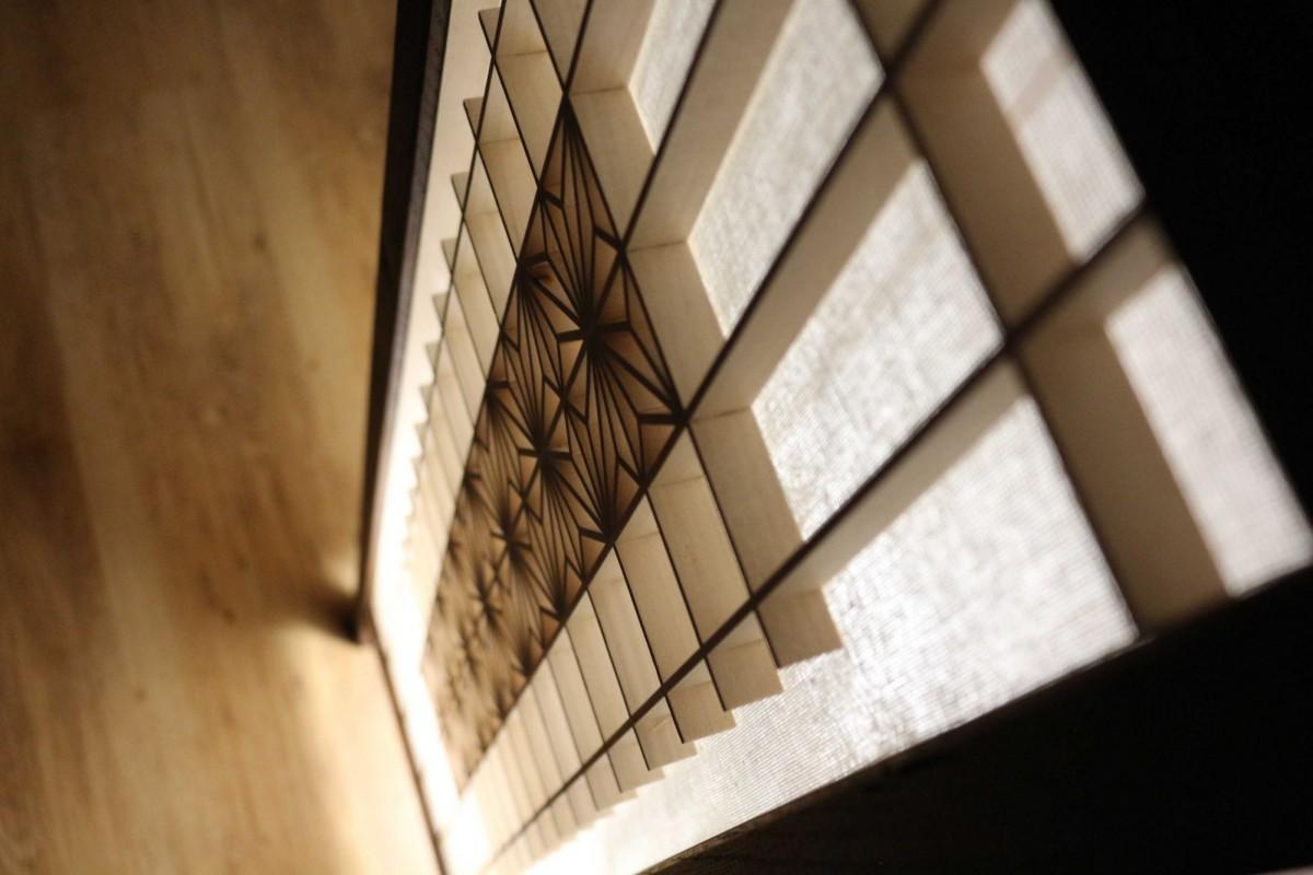 Lampa japońska, wystrój wnętrza, oryginalna lampa