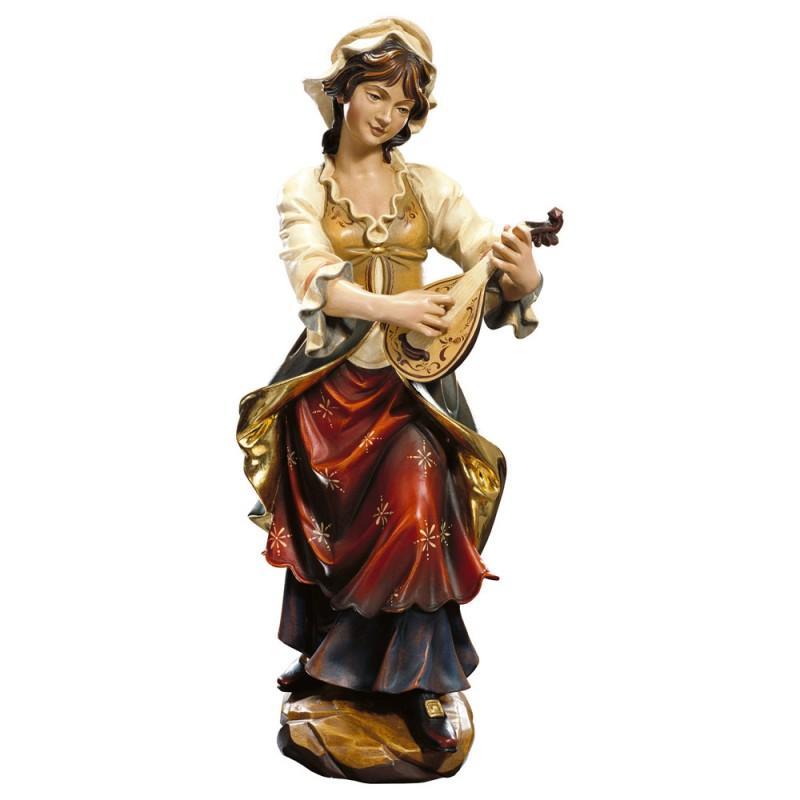 Lutnistka - rzeźba w drewnie
