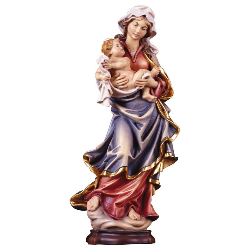Madonna z Dzieciątkiem polichromia