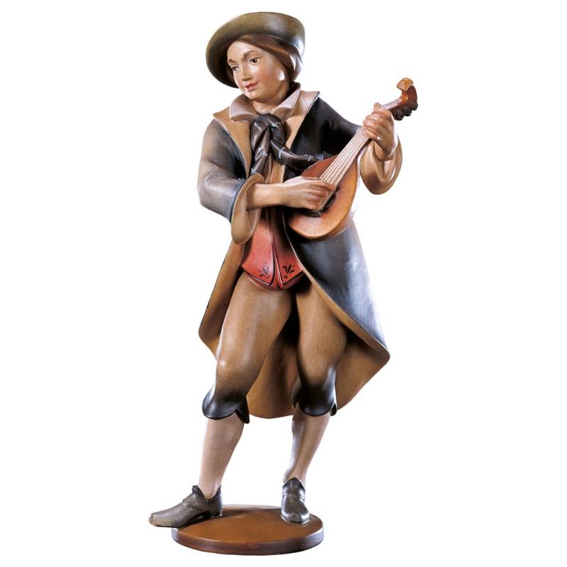 Mandolinista - figurka drewniana