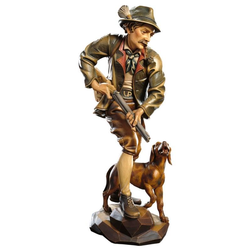 Myśliwy rzeźba w drewnie, figura drewniana