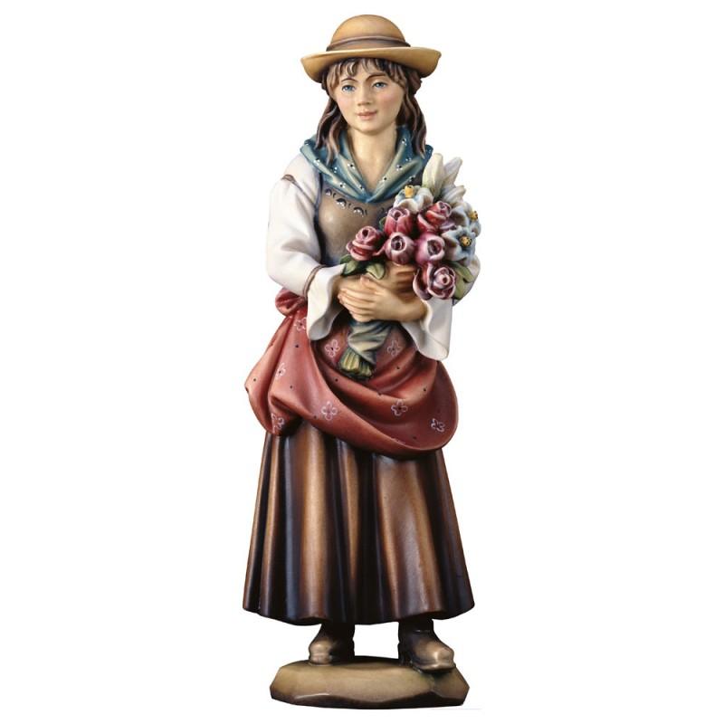 """Figurka """"Kobieta z kwiatami"""""""