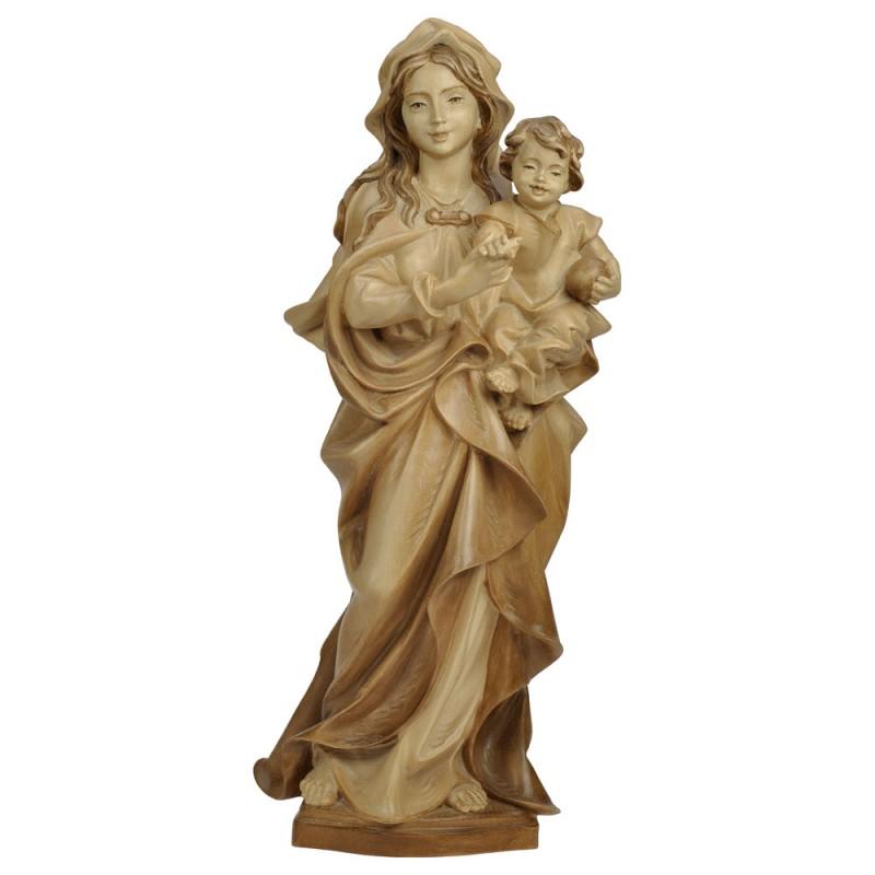 Madonna z Dzieciątkiem bejcowana