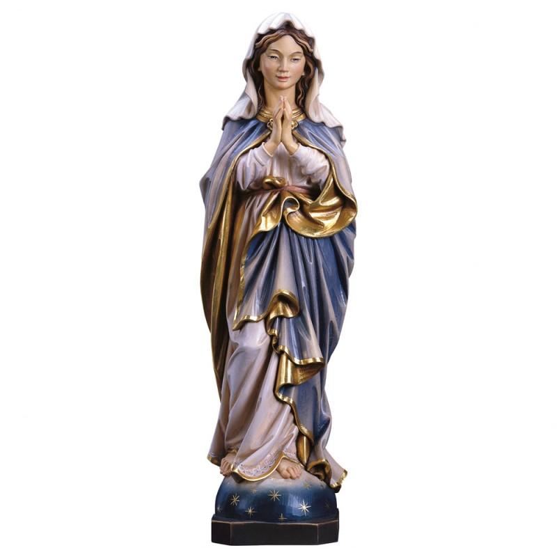 Madonna modląca się - figura w drewnie