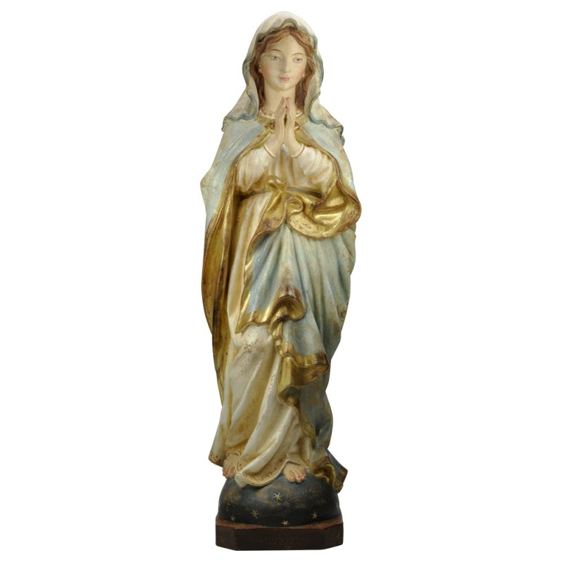 Madonna modląca się - rzeźba w drewnie