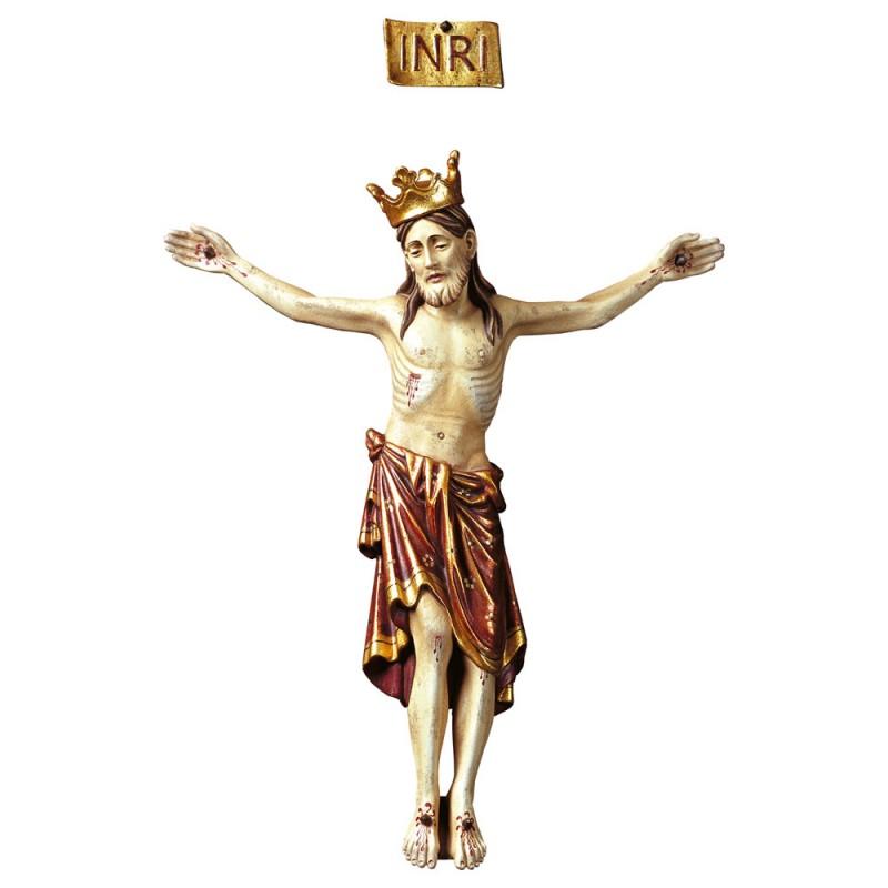 Krucyfiks romański z koroną bez krzyża