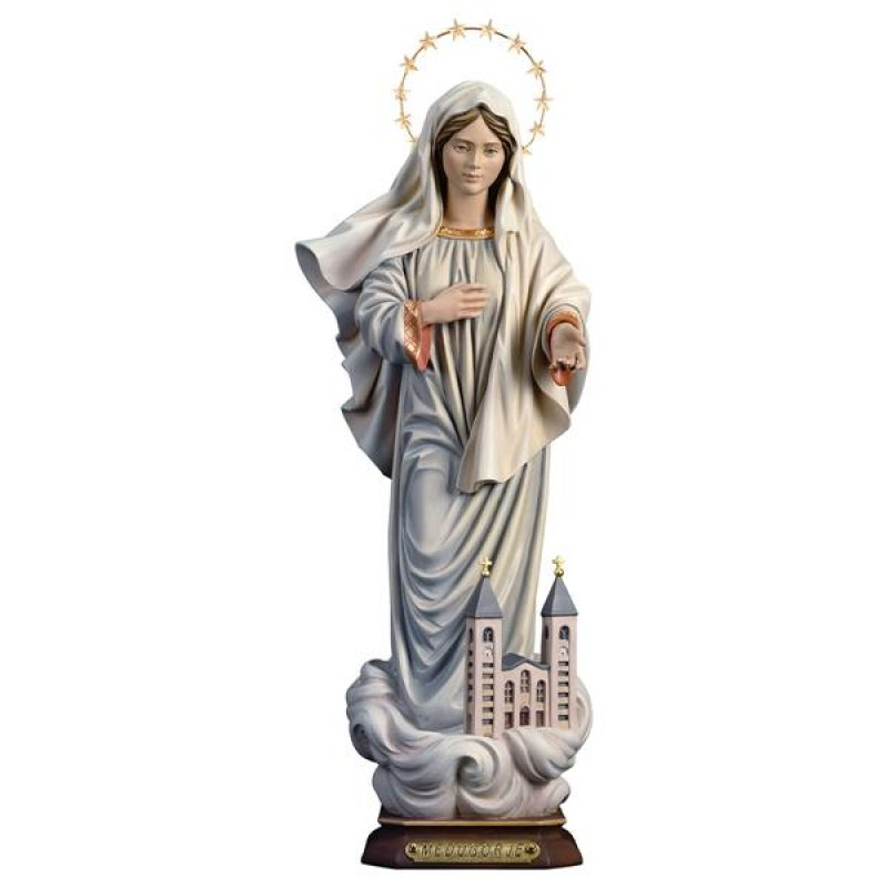Matka Boska z Medjugorje - rzeźba w drewnie