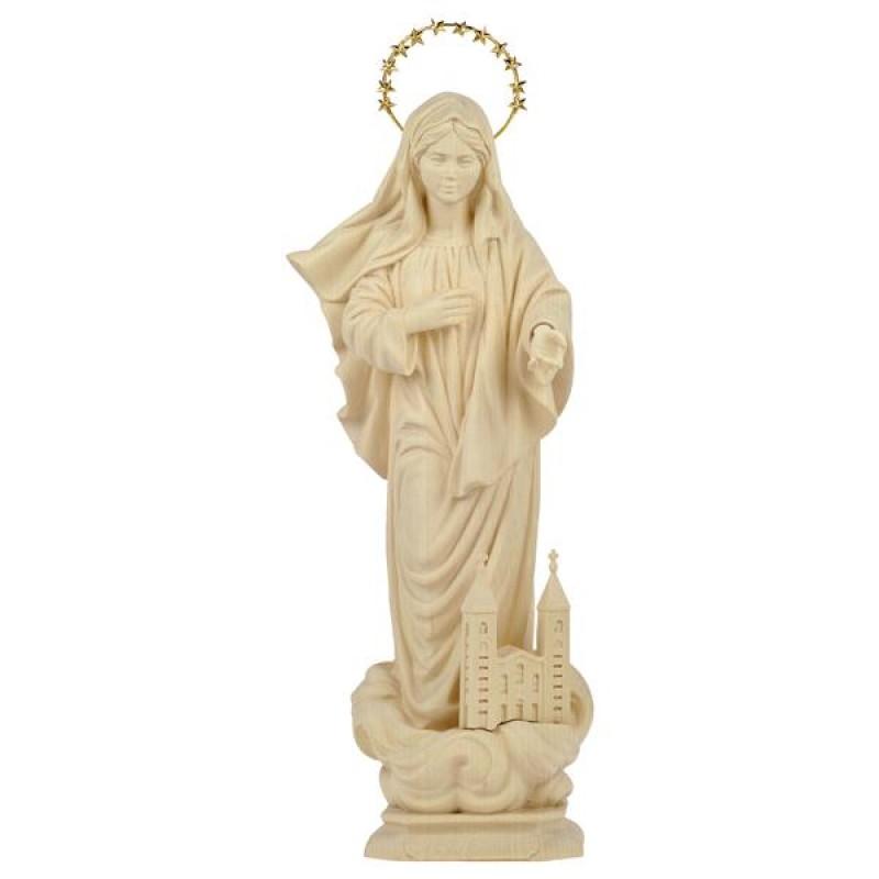Matka Boża z Medjugorje - figura w drewnie