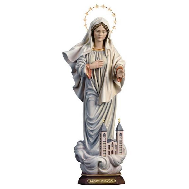 Kraljica Mira z kościołem i aureolą